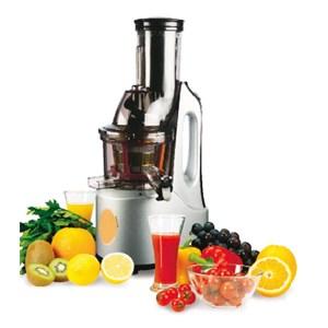 Entsafter für Obst und Gemüse (Slow Juicer) - MOD. ET2102 - der Saft wird langsam aus der Rohkost gepresst - schonendes Entsaften: 60 U/Min. - Leistung: 240 W - Produktmaße (B x T x H):  21 x 25 x 49 - CE Kennzeichnung