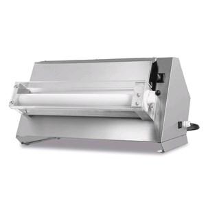 PIZZA-TEIGAUSROLLMASCHINE - MOD. TQS50UNO - EINZELROLLE - Pizzadurchmesser: 26/45 cm - Teigmenge: 80/500 Gramm - Motorleistung: W 250 - einphasig 230V/50Hz - EG-Norm - Gewicht: 27 kg