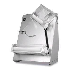 PIZZA-TEIGAUSROLLMASCHINE - MOD. TQS40 - 2 Rollenpaare (obere Rollen geneigt) - Pizzadurchmesser: 26/40 cm - Teigmenge: 80/400 Gramm - Motorleistung: W 370 - einphasig 230V/50Hz - EG-Norm - Gewicht: 37 kg