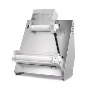 PIZZA-TEIGAUSROLLMASCHINE - MOD. TQS50PA - 2 Paar parallele Rollen - Pizzadurchmesser: 26/50 cm - Teigmenge: 100/800 Gramm - Motorleistung: W 370 - einphasig 230V/50Hz - EG-Norm - Gewicht: 54 kg