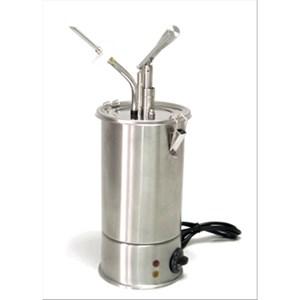ZYLINDERFÖRMIGER SOSSENSPENDER FÜR HEISSE SOSSEN (1 PUMPE) - Mod. DIS G1 - mit Garniertüllen zum Füllen von Torten, Kuchen und Donuts - aus Edelstahl Aisi 304 - geeignet für viskose, dickflüssige Soßen - Temperaturbereich: einstellbar - Füllmenge: 3 Liter - Saucenportion: 40 ml (einstellbar) - Leistung: 1300 W - einphasiger Anschluss - Abmessungen in cm: ø 18 x 50h - EG-Norm