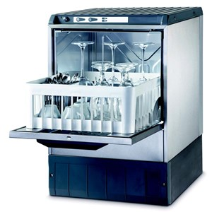 "Gläserspülmaschine - Edelstahl AISI 304 18/10 - Mod. 4000 ST - max. Einschubhöhe: 29 cm - Korbmaße (B x T): 40 x 40 cm - Spüldauer:  120"" - Produktmaße in cm (B x T x H): 47,5 x 50,5 x 71,9"