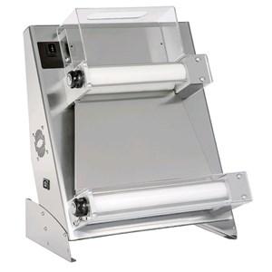 TEIGAUSROLLMASCHINE - PARALLELE ROLLEN - ELEKTRISCHES FUSSPEDAL - Mod. DSA 500 RP - Rollenlänge 50 - Leistung kW 0,25 - ANSCHLUSS 230 V einphasig - Abmessungen in cm (BxTxH): 66,5 x 43,5 x 71,5 cm - Gewicht 41 kg  -  CE-Norm