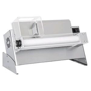 TEIGAUSROLLMASCHINE - EINZELWALZEN UND ELEKTRISCHES FUSSPEDAL - Mod. DMA 310/2 - Leistung hp 0,33 -  230 V einphasig - Abmessungen in cm (BxTxH): 65 x 32 x 41 cm - Gewicht 22 Kg - Pizzadurchmesser 14/30 cm - CE-Norm