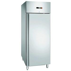 Kühlschrank - Edelstahl AISI 304 - Umluftkühlung - Mod. CZ700TN - Gastronorm 2/1 (cm 65 x 53) - 1 Tür - Schloss - Nutzvolumen: 700 Liter - Temperaturbereich: -2°C / +8°C - Produktmaße (B x T x H): 74 x 83 x 201 - CE-Kennzeichnung
