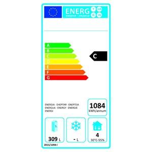 Kühltisch - Edelstahl AISI 304 - Umluftkühlung - Mod.ECZ3100TN - Gastronorm 1/1 (53 x 32,5 cm) - 3 Türen - Nutzvolumen: 465 Liter - Temperaturberereich: -2°/+8°C - Produktmaße (B x T x H): 179,5 x 70 x 86 - CE-Kennzeichnung