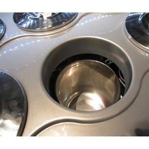 Pozzetti Eistheke für den Verkauf von Eis und Granita - Mod. DOLCE VITA 4 - Fassungsvermögen: 146 Liter - Temperaturbereich: - 5 °C / -20 °C - Produktmaße in cm (B x T x H): 65,4 x 66,5 x 103 - CE-Kennzeichnung
