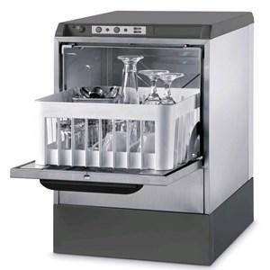 "Gläserspülmaschine - Edelstahl AISI 304 18/10 - Mod. 5722 VZ - max. Einschubhöhe: 25 cm - Korbmaße (B x T): 35 x 35 cm - Spüldauer: 120"" - Produktmaße in cm (B x T x H): 42,5 x 45,5 x 63,6"