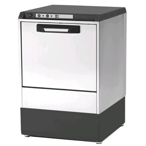 "Gläserspülmaschine - Edelstahl AISI 304 18/10 - Mod. 6222 VZ - max. Einschubhöhe: 29 cm - Korbmaße (B x T): 40 x 40 cm - Spüldauer:  120"" - Produktmaße in cm (B x T x H): 47,5 x 50,5 x 71,9"