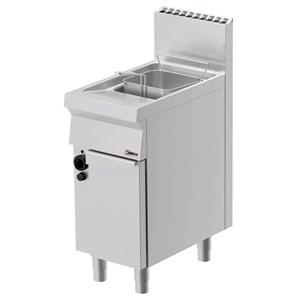 Gas-Fritteuse - MOD. FRG71OE - N. 1 vasca Lt. 15 di olio - N. 1 vano neutro con porta - Leistung:  kW 14 - Produktmaße in cm (B x T x H):40 x P 70 x H 90 - CE-Kennzeichnung