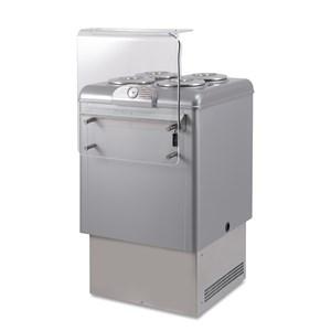 Pozzetti Eistheke für den Verkauf von Eis und Granita - Mod. DOLCE VITA 4 LUXE - Fassungsvermögen: 146 Liter - Temperaturbereich: - 5 °C / -20 °C - Produktmaße in cm (B x T x H): 65,4 x 75,8 x 103 - CE-Kennzeichnung