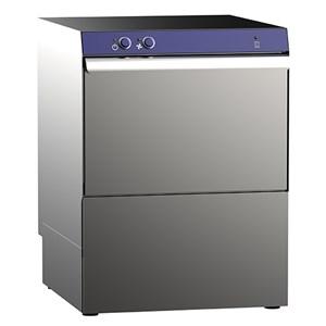 """Geschirrspülmaschine - mechanische Bedienung - Edelstahl AISI Mod. G 50 GEM V - ALIMENTAZIONE TRIFASE - max. Einschubhöhe: 33 cm - viereckiger Korb: 50 x 50 cm - Spülzyklus 180"""" - Dosierer für Klarspülmittel - Produktmaße (B x T x H): 56,5 x 61 x 82,5"""