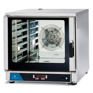 ELEKTRO-KONVEKTIONSOFEN FÜR GASTRONOMIE UND PATISSERIE - MOD. FED 6 DIG - DIGITALES BEDIENFELD - MIT DIREKTER DAMPFEINSPRITZUNG - 9 KOCHPROGRAMME - ANSCHLUSS 400V/3/50Hz DREIPHASIG - LEISTUNG: 7,65 kW - KAPAZITÄT: 6 X (GN 1/1 ; 60X40) - ABMESSUNGEN IN CM (B x T x H): 84 X 91 X 83