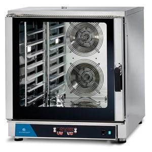 ELEKTRO-KONVEKTIONSOFEN FÜR GASTRONOMIE UND PATISSERIE - MOD. FED 7 DIG - DIGITALES BEDIENFELD - MIT DIREKTER DAMPFEINSPRITZUNG - 9 KOCHPROGRAMME - ANSCHLUSS 400V/3/50Hz DREIPHASIG - LEISTUNG: 10,7 kW - KAPAZITÄT: 7 X (GN 1/1 ; 60X40) - ABMESSUNGEN IN CM (B x T x H): 84 X 91 X 93