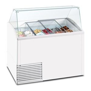 Eistheke - Mod. SL 510 ICE - Temperaturbereich: - 15 °C / -20 °C - Fassungsvermögen: 431 Liter - Produktmaße in cm (B x T x H): 134,1 x 72,5 x 123,5 - Gewicht: 103 kg - CE-Kennzeichnung
