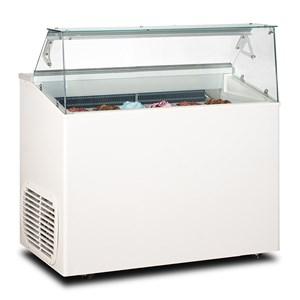 Eistheke - Mod. VETRINA TP 6 - Fassungsvermögen: 246 Liter - Temperaturbereich: - 15 °C / -20 °C - Produktmaße in cm (B x T x H): 120 x 67,3 x 117,5 - CE-Kennzeichnung